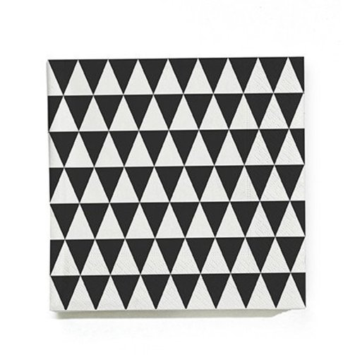 ferm LIVING Servetten Triangle Zwart