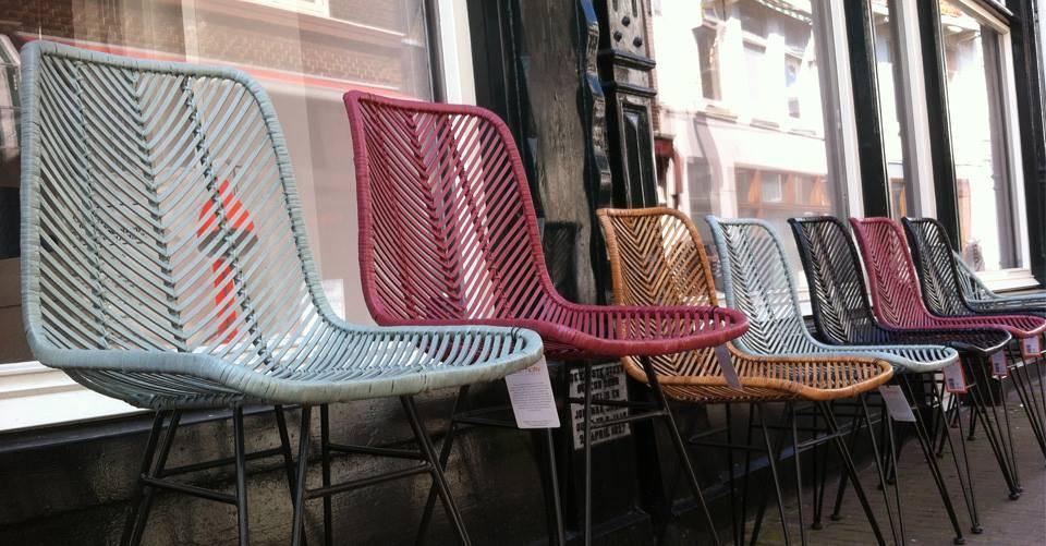 Mooie rotan stoelen van Leitmotiv.