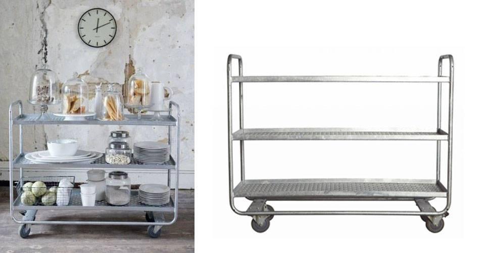 Industriële stalen trolley van House Doctor