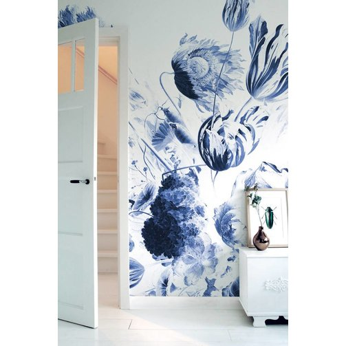 KEK Amsterdam Behang Royal Blue Flowers II