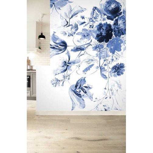 KEK Amsterdam Behang Royal Blue Flowers III