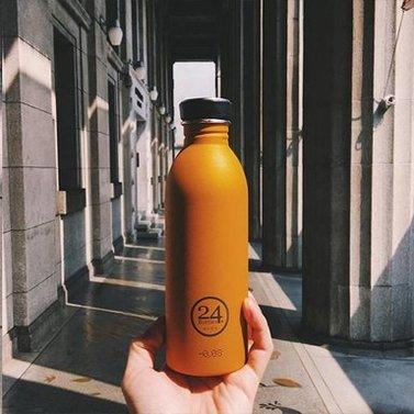 Drinkfles oranje