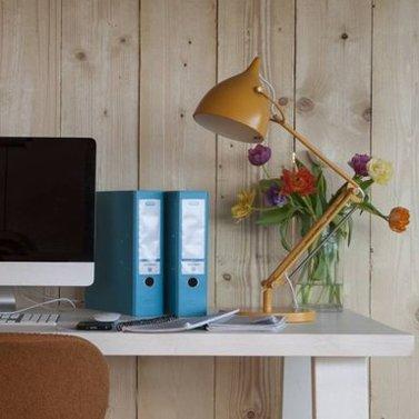 Bureaulamp geel