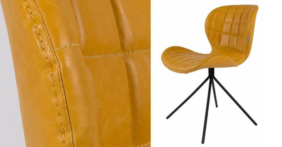 De OMG stoel in de kleur okergeel!