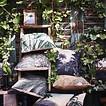 HKliving Kussen Jungle Zwart Wit