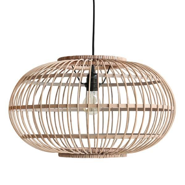 Deze natuurlijke hanglamp geeft buiten een mooie natural look een mooi ...
