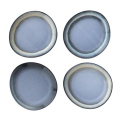 HKliving Ontbijtborden blauw - set van 6