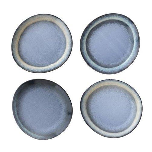 HKliving Dinerborden blauw - set van 6