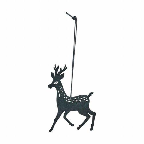 House Doctor Ornament Rendier 8cm Set van 2