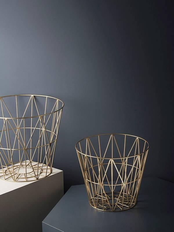 wire basket brass s bekijk hier alle modellen de tafel van 10 online woonwinkel. Black Bedroom Furniture Sets. Home Design Ideas