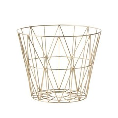 ferm LIVING Wire Basket Brass S