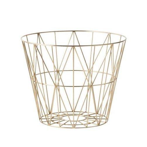 ferm LIVING Wire Basket Brass S