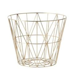 ferm LIVING Wire Basket Brass M
