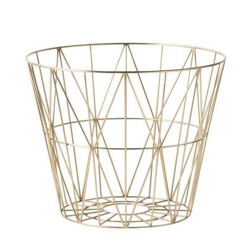 ferm LIVING Wire Basket Brass M