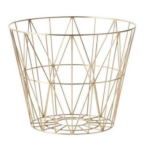 ferm LIVING Wire Basket Brass L