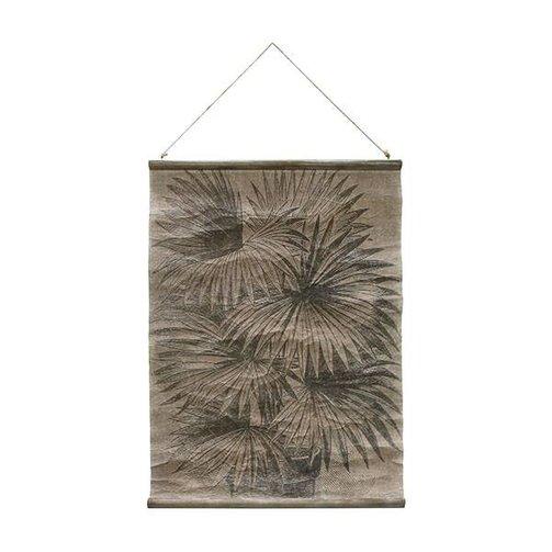 HKliving Vintage wandkaart palmbladeren