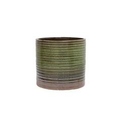 HKliving Bloempot van groen keramiek