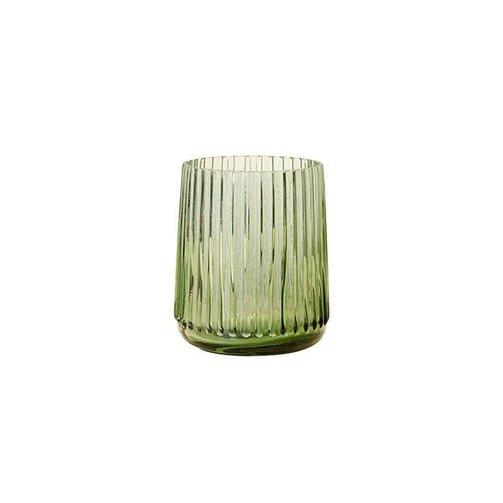 HKliving Glazen vaas groen S