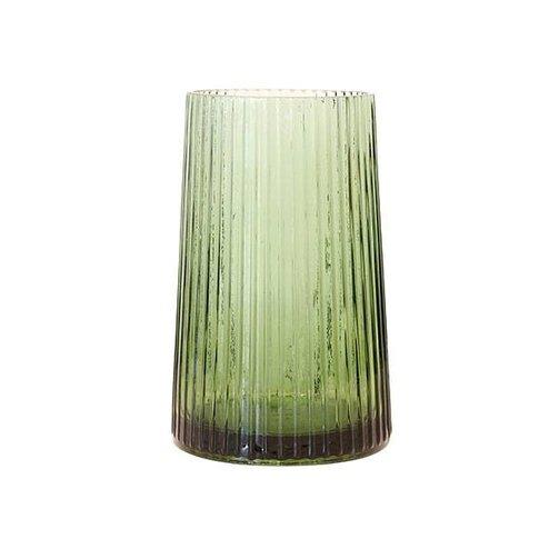 HKliving Glazen vaas groen M