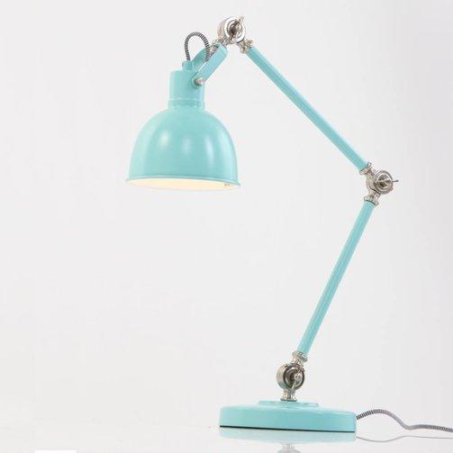 Studio 10 Bureaulamp Dominique Turquoise 75cm