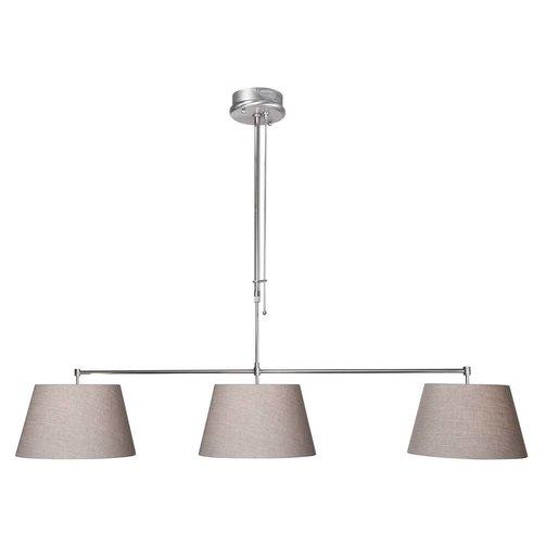 Steinhauer Hanglamp Stresa III Grijs Linnen
