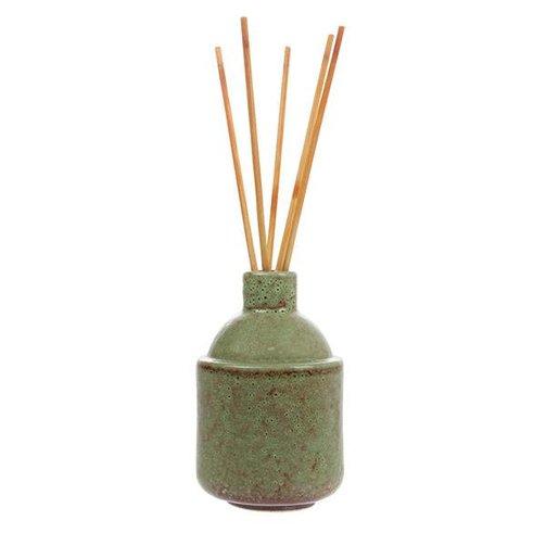 HKliving Keramieken geurvaas incl stokjes Green Blossom