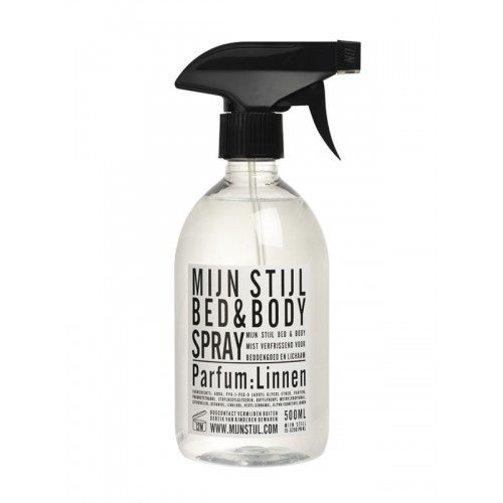 Mijn Stijl Bed en Bodyspray Linnen wit/zwart etiket