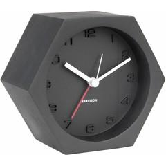 Karlsson Wekker / klok Hexagon - Zwart