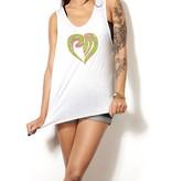 Tanktop heart green - Female