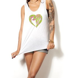 Tanktop heart green - Female
