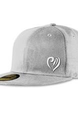 Snapback heart small grey