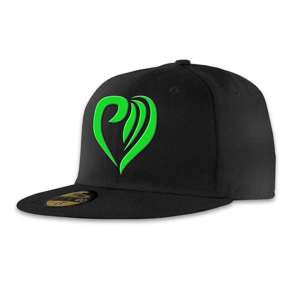 Snapback heart green
