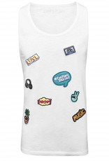 Tanktop Patches white - Male