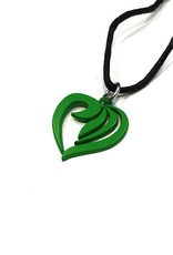 Necklace heart - green