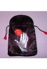 Aufbewahrung Tarot Beutel - Hand mit Rose