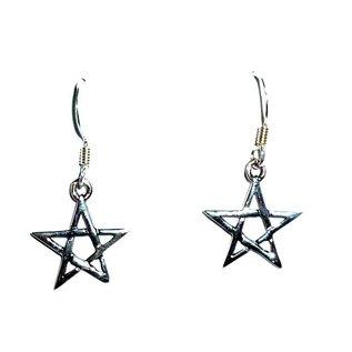Ohrhänger mit Pentagramm
