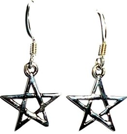 Pentagramm Ohrringe silber