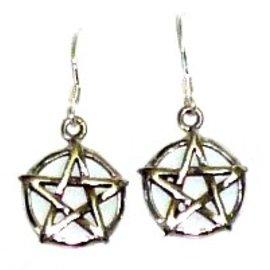Pentagramme Pentagramm Ohrringe silber 925
