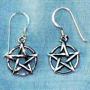 Pentagramme Ohrhänger Pentakel