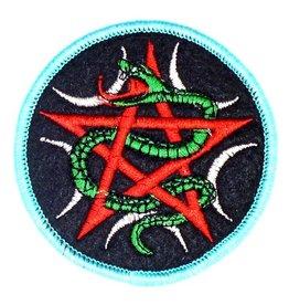 Pentagramme Aufnäher mit Pentagramm und Schlange