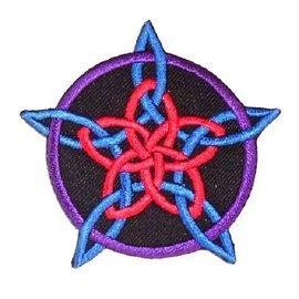 Textilien Aufbügler mit Rosenpentagramm