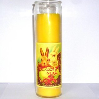 Sabbatte Ostara Jahreskreis Kerze im Glas