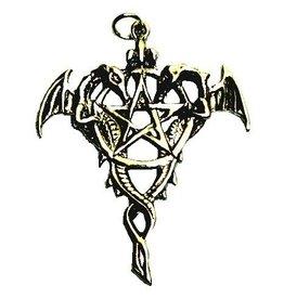 Pentagramme Amulett Drache Pentagramm 925-Silber