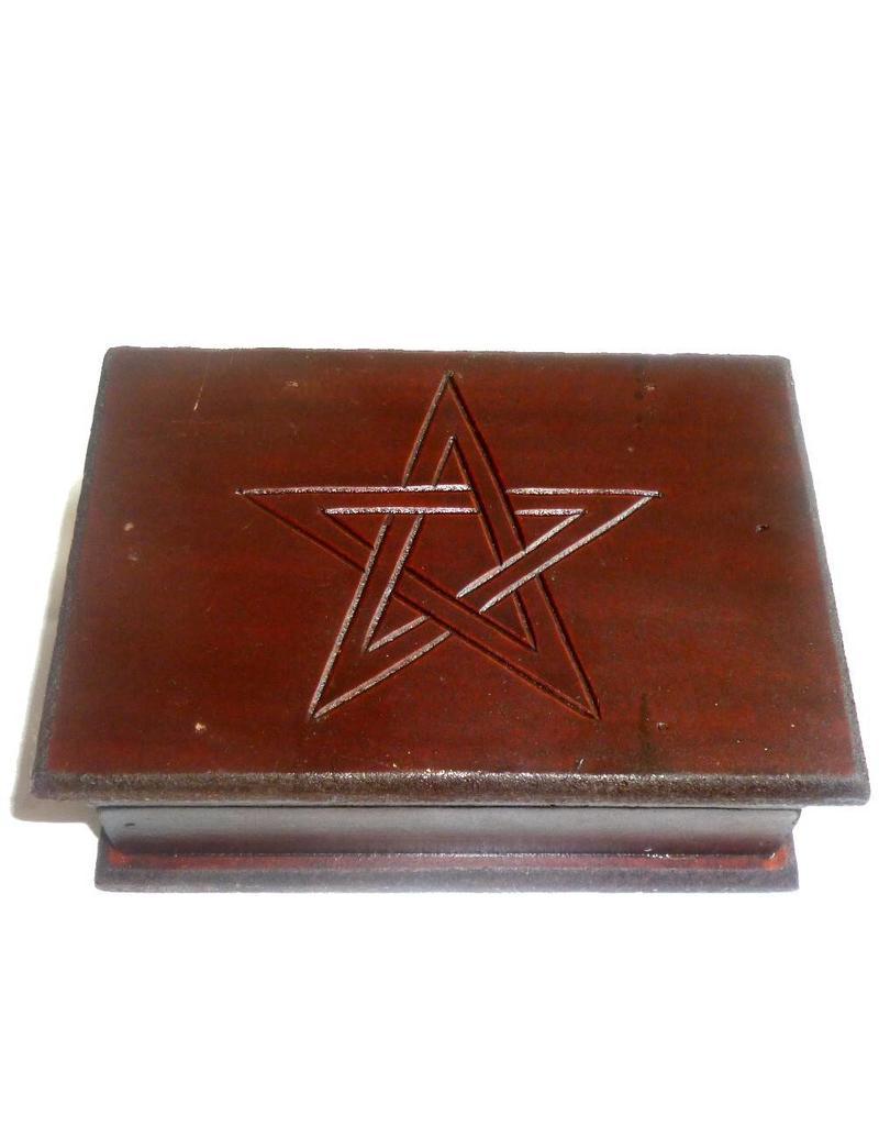 Aufbewahrung Tarot Kästchen mit Pentagramm