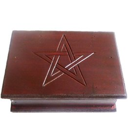 Aufbewahrung Tarot Kästchen, Tarot Box mit Pentagramm ab