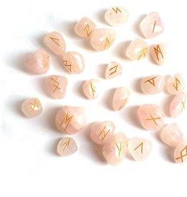 Edelstein Runensteine Orakel aus Rosenquarz