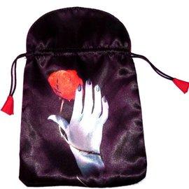 Aufbewahrung Tarotbeutel - Hand mit Rose