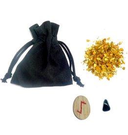 Ritualbedarf Mojo Bag mit Anleitung, Bann