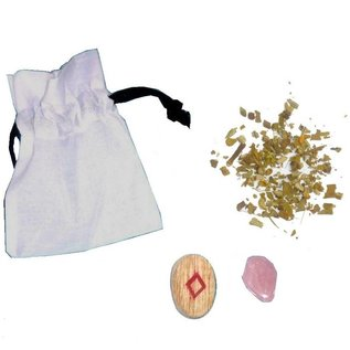 Ritualbedarf Mojo-Bag (Mojo-Beutel) mit Anleitung, Frieden
