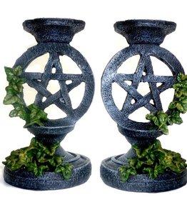 Pentagramme Leuchter Pentagramm mit Efeu